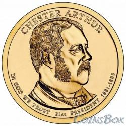 1 dollar. 21 th US president. Chester Arthur. 2012