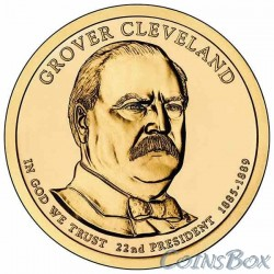 1 dollar. 22th US President. Grover Cleveland. 2012