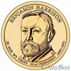 1 dollar. 23rd US president. Benjamin Harrison. 2012