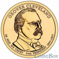 1 dollar. 24th US President. Grover Cleveland. 2012
