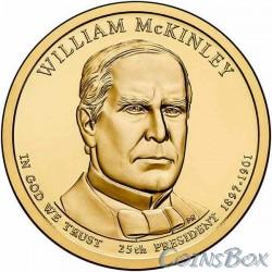 1 dollar. 25th US President. William McKinley. 2013