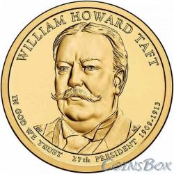 1 dollar. The 27th US president. William Howard Taft. 2013