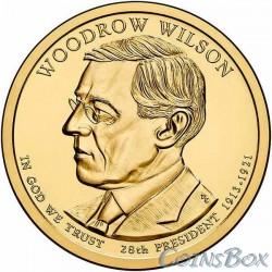 1 dollar. The 28th US president. Woodrow Wilson. 2013