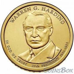 1 dollar. 29th US President. Warren G. Harding. 2014