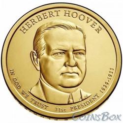 1 dollar. 31st President of the United States. Herbert Hoover. 2014.