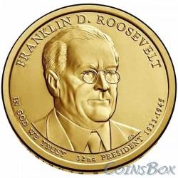 1 dollar. 32nd US President. Franklin Roosevelt. 2014