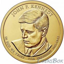 1 dollar. 35th US President. John Kennedy. 2015