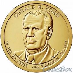 1 dollar. 38th US President. Gerald Ford. 2016