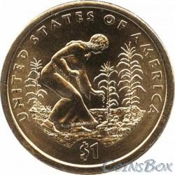 1 Sacagawea Dollar Eagle 2001