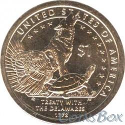 1 Dollar Sacagawea  Treaty with the Delawares 2012