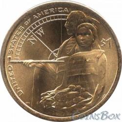 1 Доллар Сакагавея Помощь индейцев экспедиции Льюиса и Кларка 2014
