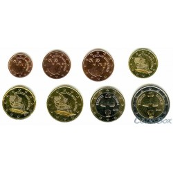 Кипр. Набор монет 1 цент - 2 Евро 2016 год