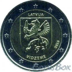 Latvia 2 euros. 2016 Vidzeme