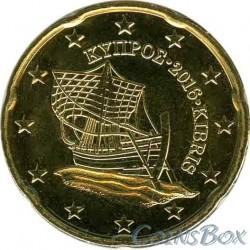 Кипр 20 центов 2016 год