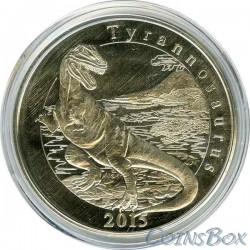 Остров Майотта 1 франк Тиранозавр 2015