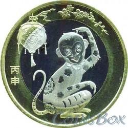 10 юаней 2016 Обезьяна