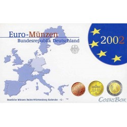 Германия 2002 G набор евро монет Пруф