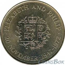 England 25 pence 1972 The Wedding of Elizabeth and Philip