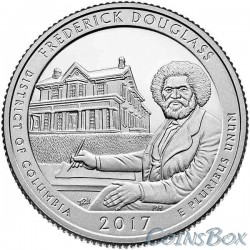 25 cents 2017 37th National Historic Site of Frederick Douglas