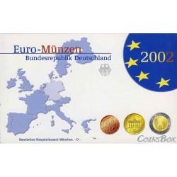 Германия 2002 D набор евро монет Пруф