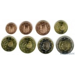 Испания набор монет 1 цент - 2 евро 2017 год