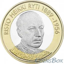 Финляндия 5 евро 2017. Ристо Хейкки Рюти