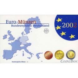 Германия 2002 J набор евро монет Пруф
