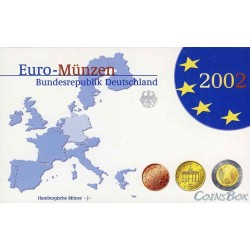 Germany 2002 J set of euro coins Proof