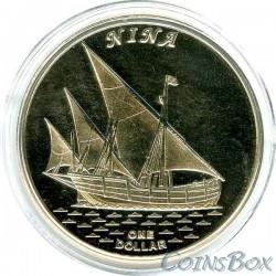 Острова Гилберта 1 доллар 2016 Корабль Нина