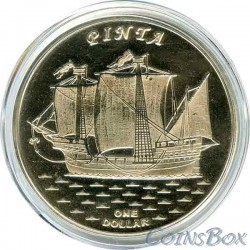 Острова Гилберта 1 доллар 2016 Корабль Пинта