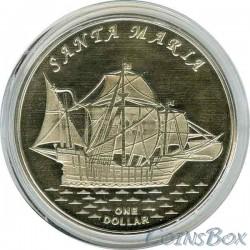 Острова Гилберта 1 доллар 2016 Корабль Санта Мария