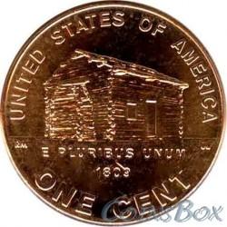 1 цент 2009 Дом Линкольна