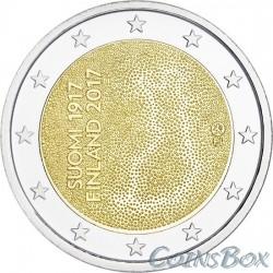 Финляндия 2 евро 2017 год 100 лет Независимости