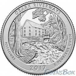 25 cents 2017 38th National Waterways Ozark