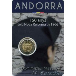 Andorra 2 euros 2016 25 years of radio and television