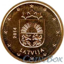 Latvia 2 cents 2014