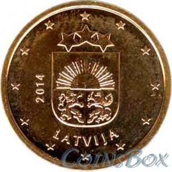 Латвия 5 центов 2014 год