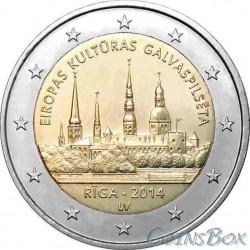 Latvia 2 euros year 2014 Riga - European Capital of Culture