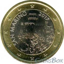 Сан-Марино 1 евро 2017 год