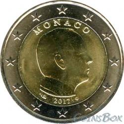 Монако 2 евро 2017 год