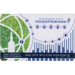 Plantain travel cards. Earth Globe small font