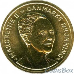 Denmark 20 kroons 2015 75 years of Queen Margrethe 2