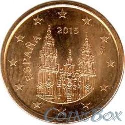 Испания 1 цент 2015 год