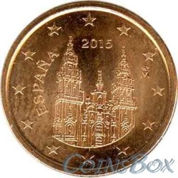 Spain 1 cent 2015 year