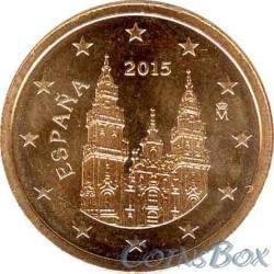 Spain 2 cents 2015 year