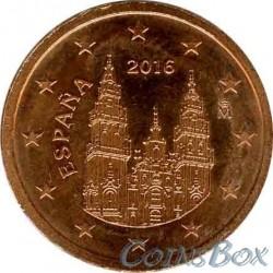 Испания 2 цента 2016 год