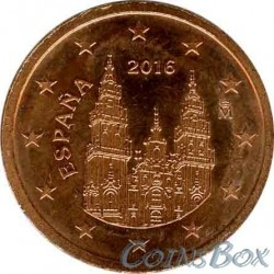 Spain 2 cents 2016 year