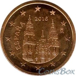 Spain 5 cents 2016 year