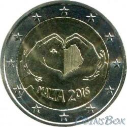 Мальта 2 евро 2016 год Любовь