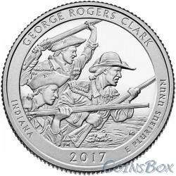 25 центов 2017 40-й Национальный исторический парк имени Джорджа Роджерса Кларка